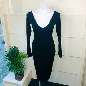VINTAGE Dress PATRICIA TIMM Black Cocktail (S)
